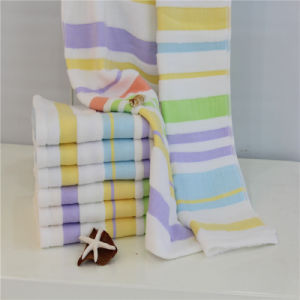 Zreo Twist Cotton Yarn Stripe Towel