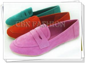 Fashion Flock Fabric Flat Heel Women Casual Shoes A133301590