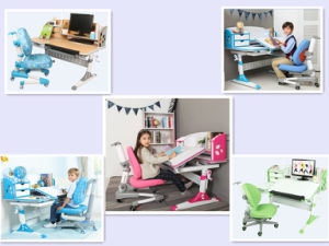 Ergonomic Kids Study Desk with with Shelf pictures & photos
