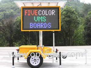2 Cost Effective Solar Powered Variable Message Signs Vms Trailer pictures & photos