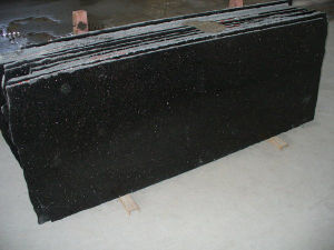 Hot Black Galaxy Flooring Tile Granite Slab, Granite for Sale pictures & photos