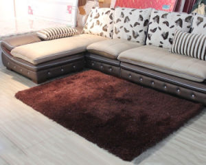Good Quality New Arrival Polyester Silk Plain Carpet pictures & photos
