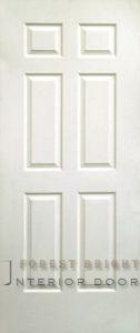 White Primed 6-Panel Molded Door (MD-1106)