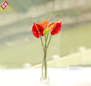 Artificial Home Decor Best Quality PU Material Manmade Real Touch Anthurium