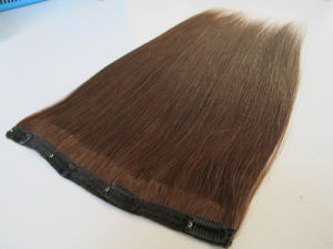 "Premium Quality 100% Human Hair Real Remy Clip-in Hair Extensions 22"" Color: Brown, 10PCS Set pictures & photos"