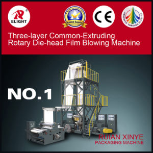 Three-Layer Common-Extruding Rotary Die-Head Film Blowing Machine (SJ-45*3/FM1000) pictures & photos