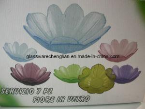 Flower Shape Solid Color Glass Bowls (W-13) pictures & photos