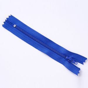 No. 4 Nylon Zipper Close End with Woven Tape pictures & photos