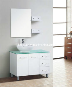 Flooring Mounted MDF Painted Bathroom Cabinet Wooden Shelves Bathroom Vanity