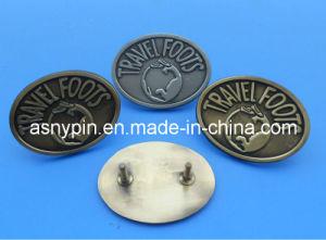 3D Embossing Metal Logo Badge Medallion for Handbag pictures & photos