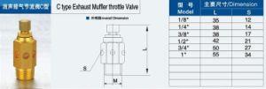 C Type Exhaust Muffler Throttle Valve