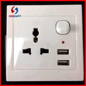 Factory Wholesale Mobile 2 Port Wall USB Socket Charger pictures & photos