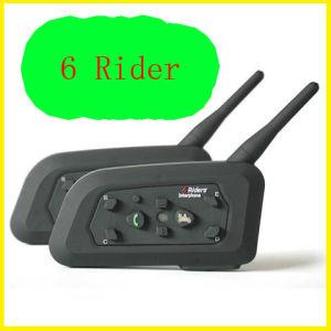 Motorcycle Bt Interphone Bluetooth Motorcycle Helmet Intercom for 6 Riders