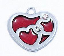 Heart Shaped Enamel Pendant (DE02-642)