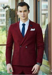 Men′s fashion Red Color Wedding Dress Suit pictures & photos