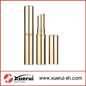 Wholesale Long Slim Golden Round Lipstick Tube pictures & photos