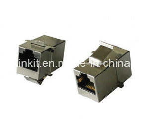 RJ45 to RJ45 Keystone Jack Black Color Short Type pictures & photos