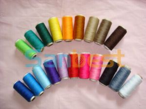 100% Colorful Spun Polyester Sewing Thread on Small Reels pictures & photos
