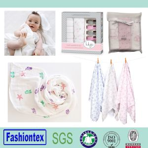 """Baby Bamboo Clothes 47""""X47"""" White Swaddle Blanket pictures & photos"""