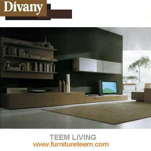 Modern Home Furniture Living Room High Glossy TV Cabinet pictures & photos