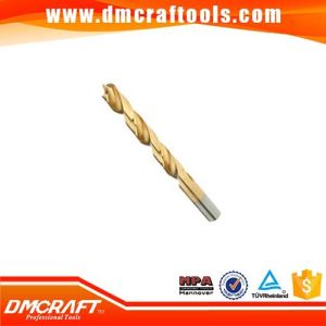Titanium Coated HSS Wood Brad Point Drill Bit pictures & photos