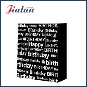 Black with Hot Stamping Happy Birthday Shopping Gift Paper Bag pictures & photos