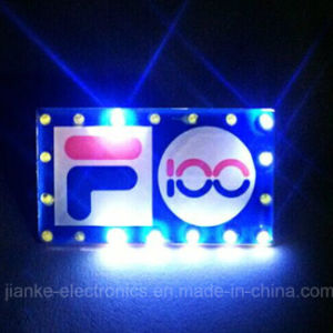 Fashion LED Flashing Display Badge with Logo Print (3161) pictures & photos