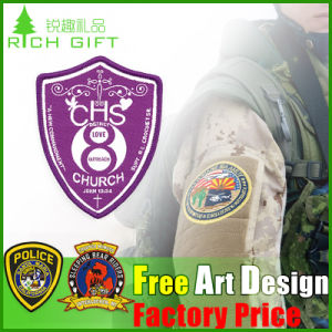 Custom High Quality Embroidered Woven Badge pictures & photos