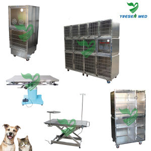 Yuesenmed Veterinary Hospital Medical Stainless Steel Pet Dog Crate pictures & photos