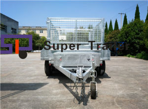 8X5FT Galvanised Fully Welded Hydraulic Tipping Trailer