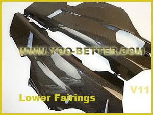 Carbon Fiber Motorcycle Parts for Lower Fairings