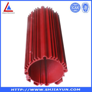 Red Powder Coating Aluminium Heatsink Profile pictures & photos