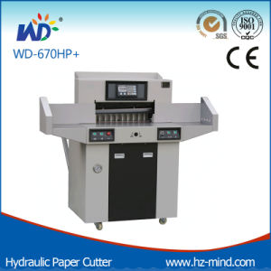 Factory Wd-670HP with Side Table Program-Control Paper Cutting Machine Hydraulic Paper Cutter with Table pictures & photos