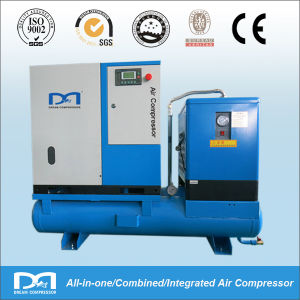 15kw Industrial Oil-Injected Rotary Screw Air Compressor with Air Receiver pictures & photos