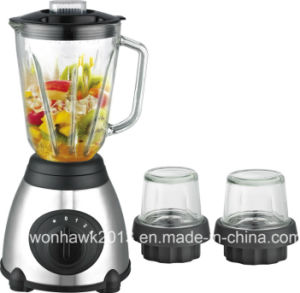 Glass Jar Blender Mixer 3 in 1 Smart Electric Blender pictures & photos