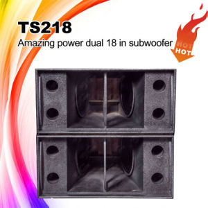 "Factory Wholesale DJ Speakers Ts218 Dual 18"" Speaker Box pictures & photos"