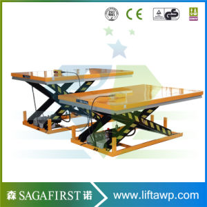Extreme Low Height Fixed Roller Working Platform Hydraulic Scissor Lifter pictures & photos