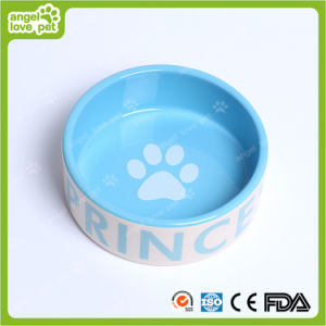 Fashion Design Dog Footprint Ceramic Pet Bowl pictures & photos