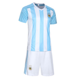 Argentina 15-16 Season Home Football Jersey Sportswear Suit on The 10th Macy Training Wear pictures & photos
