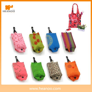 210d Polyester Supermarket Folding Fabric Vest Foldable Reusable Shopping Bag pictures & photos