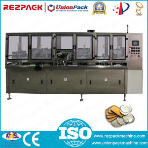 Automatic Pop Can Aluminum Foil Lid Seal Machine (RZ-B) pictures & photos