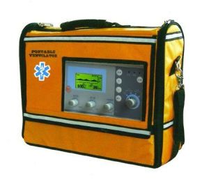 Hv-100c Medical Portable Ventilator Breathing Apparatus with Ce ISO pictures & photos