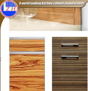 High Glossy UV Woodgrain Kitchen Cabinet Doors (customize size) pictures & photos