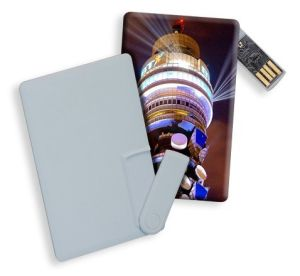Transparent Swivel Business Card Flash Disk Credit Card USB pictures & photos