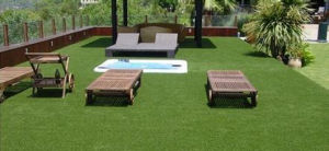Natural Looking Spring Artificial Lawn/ Synthetic Turf L40 for Garden pictures & photos