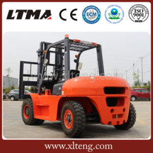 Ltma Manual Hydraulic Forklift 5t Diesel Forklift with Dual Front Tires pictures & photos
