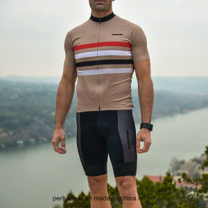 Fashion High Quality Men Stripe Cycling Clothes Fitness Wear pictures & photos