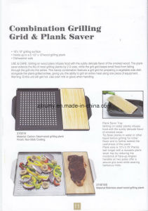 Handle Combination BBQ Grilling Grid and Plank Saver pictures & photos