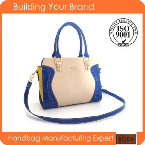 Fashion Cute Bright Color Synthetic Ladies Leather Handbag pictures & photos