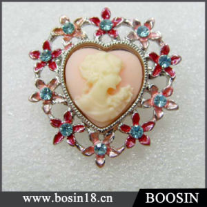 Vintage Cheap But Elegant Cameo Brooch China Wholesale #5391 pictures & photos